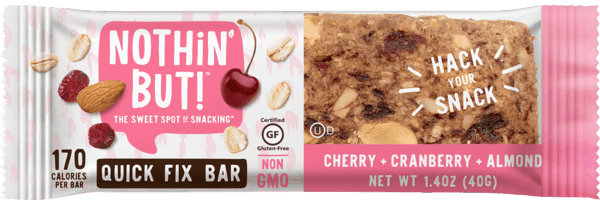 $0.50 for Nothin' But™ Quick Fix Bars (expiring on Tuesday, 04/02/2019). Offer available at Martin's (IN, MI), Natural Grocers, Shaw's.