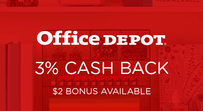 $0.00 for Office Depot (expiring on Tuesday, 06/30/2020). Offer available at Office Depot .
