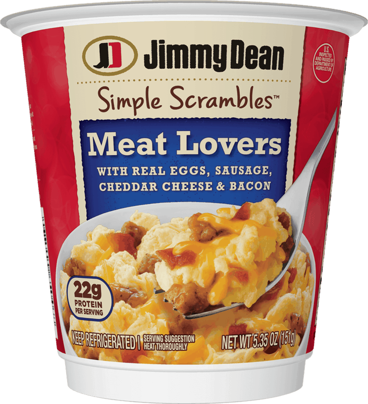 $0.25 for Jimmy Dean Simple Scrambles® Breakfast Cup (expiring on Friday, 08/27/2021). Offer available at Walmart, Walmart Pickup & Delivery.