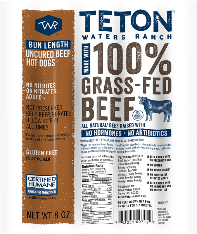 $1.50 for Teton Waters Ranch Hot Dogs (expiring on Friday, 08/06/2021). Offer available at Whole Foods Market.