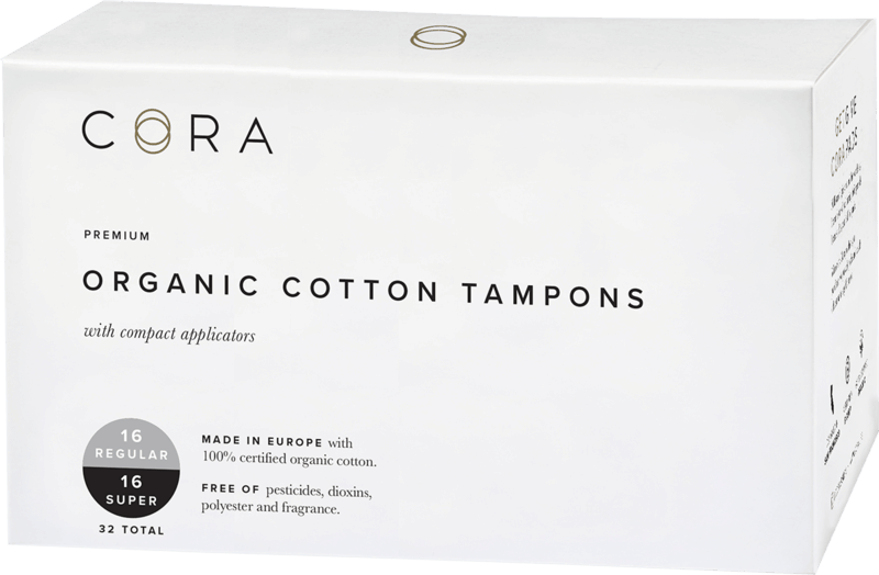 $0.50 for Cora® Organic Cotton Tampons. Offer available at Target.