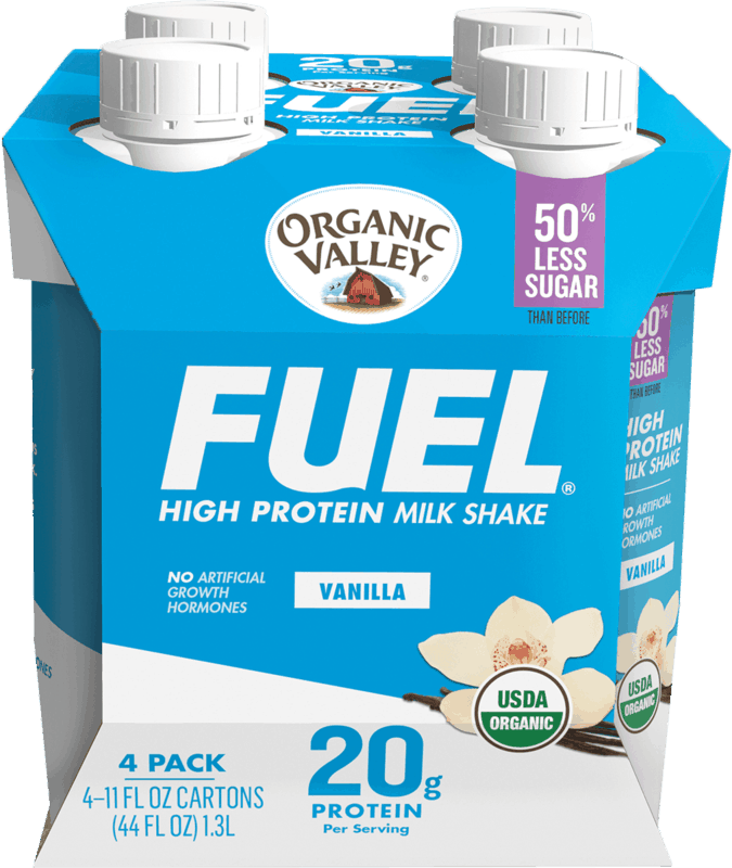 $4.00 for Organic Valley FUEL Protein Milk Shake (expiring on Friday, 06/12/2020). Offer available at multiple stores.