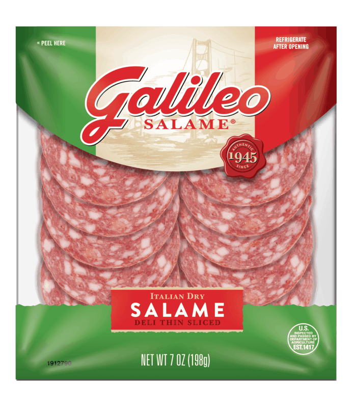 $0.50 for Galileo Salame® (expiring on Thursday, 07/02/2020). Offer available at Target, Walmart, Publix, Meijer.
