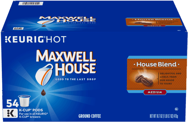 $5.00 for Maxwell House House Blend Coffee K-Cups (expiring on Friday, 08/02/2019). Offer available at Walmart.com.