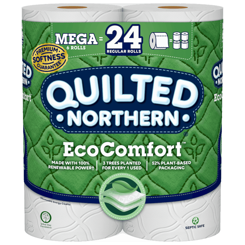 $0.75 for Quilted Northern® EcoComfort™ Toilet Paper (expiring on Saturday, 11/02/2019). Offer available at Publix, Giant Eagle, Hy-Vee.