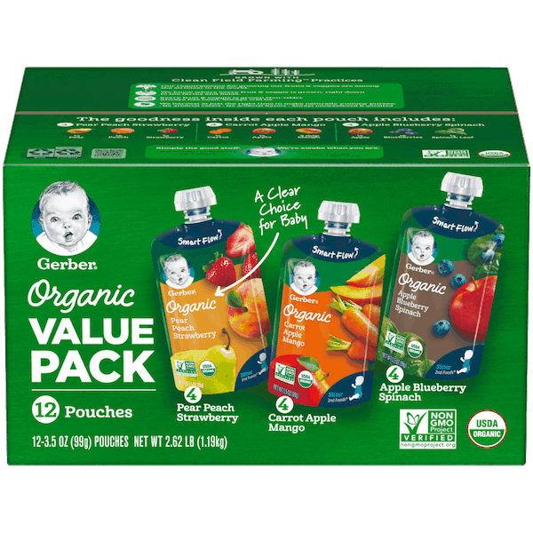 $3.00 for Gerber® Organic Pouches (expiring on Friday, 11/30/2018). Offer available at Sam's Club.