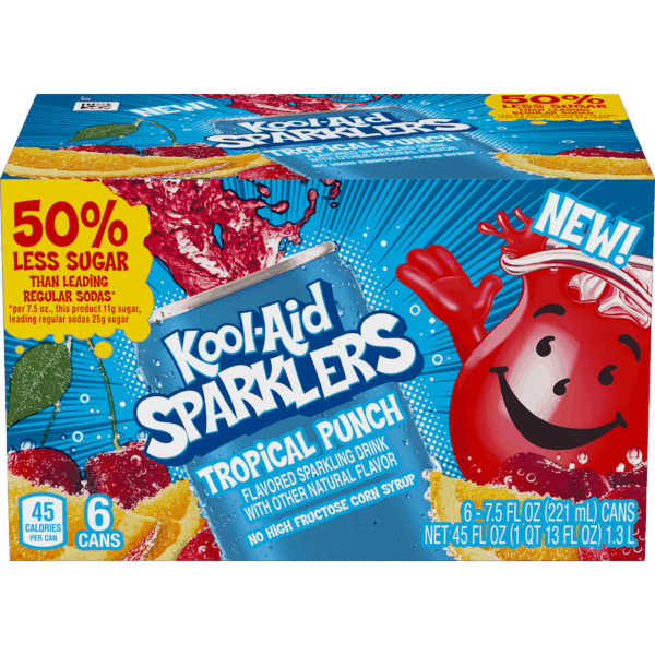 $0.50 for Kool-Aid Sparklers (expiring on Saturday, 12/08/2018). Offer available at Walmart.