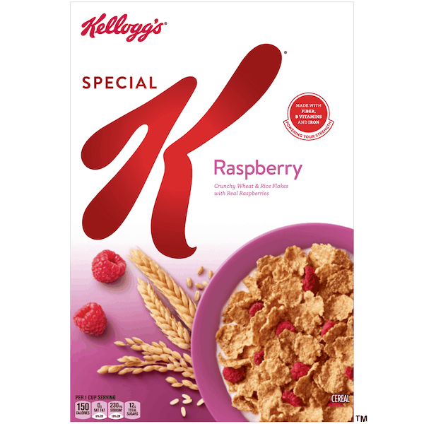 $1.00 for Kellogg's® Special K® Raspberry Cereal (expiring on Thursday, 08/01/2019). Offer available at multiple stores.