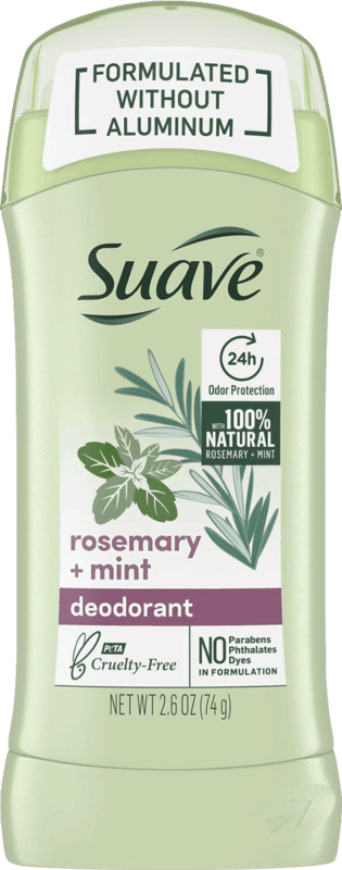 $0.50 for Suave Antiperspirant Deodorant Without Aluminum (expiring on Saturday, 03/28/2020). Offer available at multiple stores.