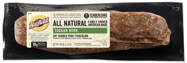 $1.00 for Hatfield® Marinated Tenderloins or Loin Filets (expiring on Monday, 09/02/2019). Offer available at multiple stores.