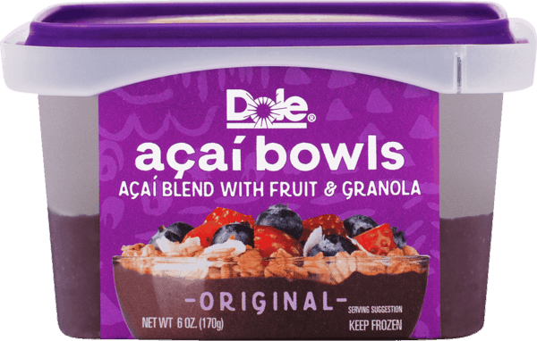 $1.00 for DOLE® Açai Bowls (expiring on Sunday, 07/01/2018). Offer available at Stop & Shop, ShopRite, Wegmans, Price Chopper, Market 32.