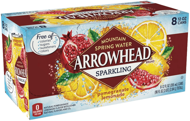 $1.00 for ARROWHEAD® Brand Sparkling Mountain Spring Water (expiring on Sunday, 02/02/2020). Offer available at Walmart.
