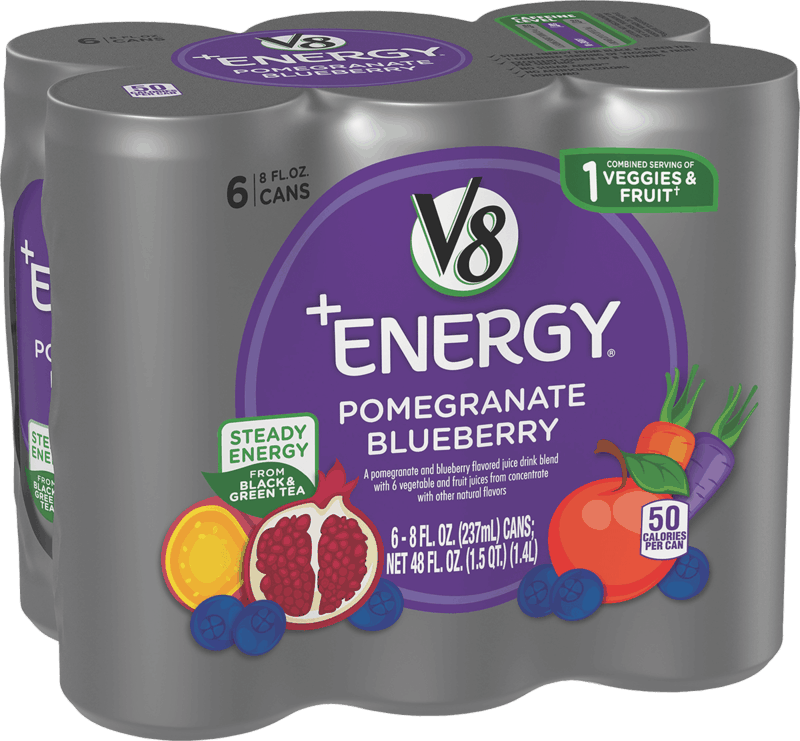 $0.75 for V8+Energy® (expiring on Tuesday, 05/18/2021). Offer available at Walmart, Walmart Pickup & Delivery.