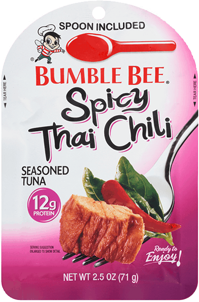 $1.00 for Bumble Bee® Seasoned Tuna Pouch with Spoon (expiring on Friday, 08/31/2018). Offer available at multiple stores.