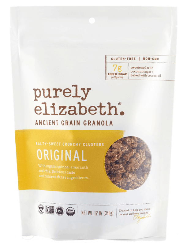 $1.00 for Purely Elizabeth Granola (expiring on Thursday, 12/31/2020). Offer available at Walmart, Walmart Grocery.