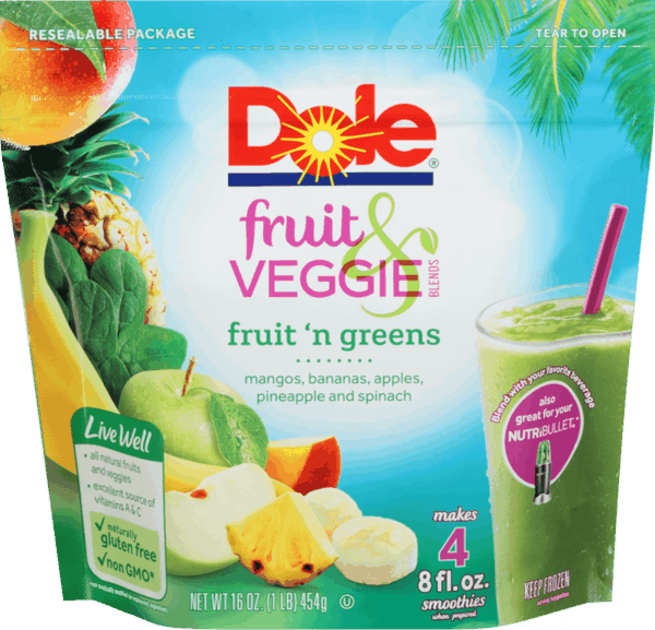 $1.00 for DOLE® Fruit & Veggie Blends. Offer available at multiple stores.
