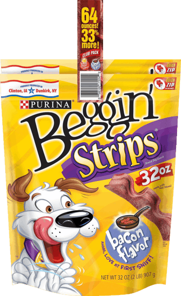 $4.00 for Purina® Beggin Strips® Dog Treats (expiring on Tuesday, 05/01/2018). Offer available at Sam's Club.