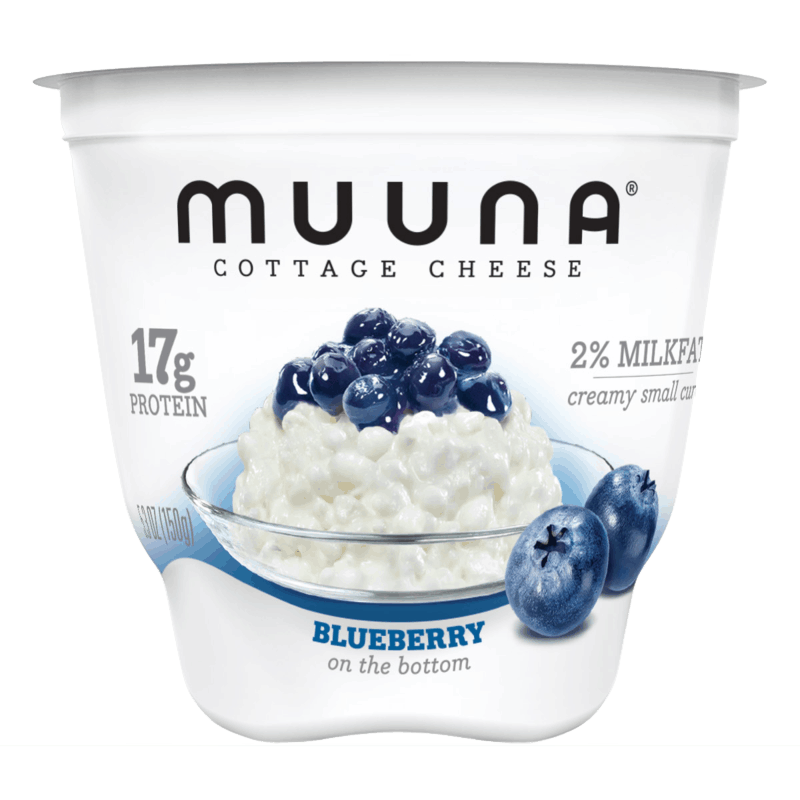 $0.50 for Muuna® Cottage Cheese Blueberry (expiring on Monday, 09/02/2019). Offer available at Walmart, Wegmans.