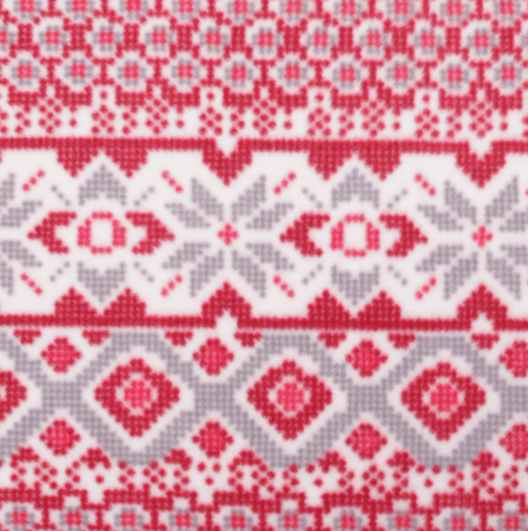 $0.50 for Vail Red Gray Fairisle Fabric (expiring on Tuesday, 04/02/2019). Offer available at JOANN .