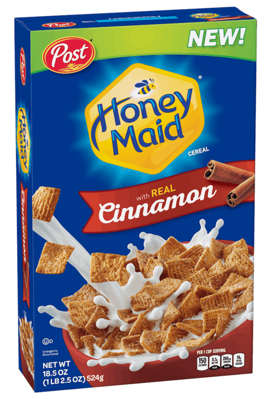 $1.00 for Post HONEY MAID Cinnamon Cereal (expiring on Wednesday, 03/31/2021). Offer available at Walmart, Walmart Grocery.