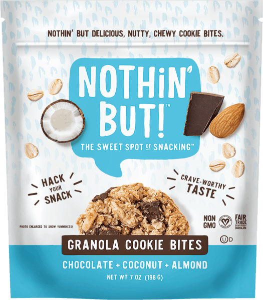 $1.00 for Nothin' But™ Granola Cookie Bites (expiring on Tuesday, 04/02/2019). Offer available at multiple stores.