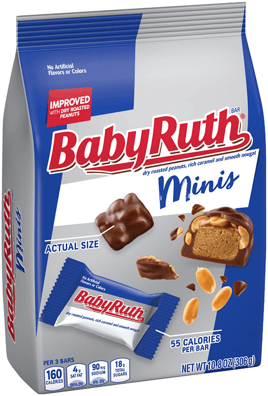 $1.00 for Baby Ruth Minis, 10.8oz (expiring on Sunday, 08/02/2020). Offer available at Safeway, Walmart, Albertsons.