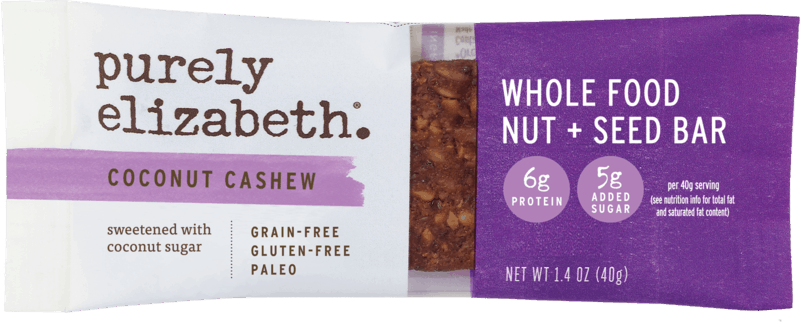 $0.50 for Purely Elizabeth Whole Food Nut + Seed Bars (expiring on Sunday, 08/02/2020). Offer available at Walmart.