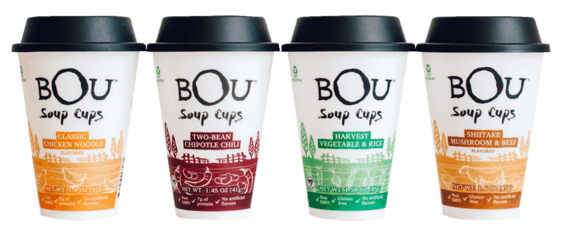 $0.75 for BOU™ Soup Cups (expiring on Saturday, 04/04/2020). Offer available at Walmart.