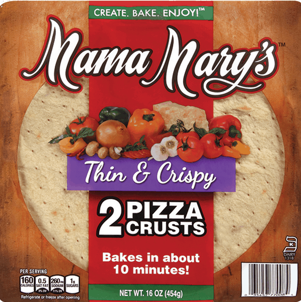 $1.00 for Mama Mary's™ Pizza Crust (expiring on Tuesday, 05/30/2017). Offer available at multiple stores.