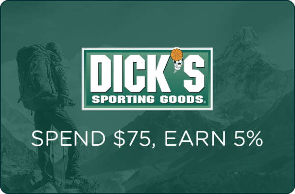 $0.00 for DICKS Sporting Goods® (expiring on Saturday, 08/04/2018). Offer available at Dick's Sporting Goods.