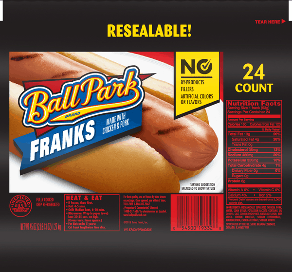 $2.00 for Ball Park® Franks. Offer available at Sam's Club.
