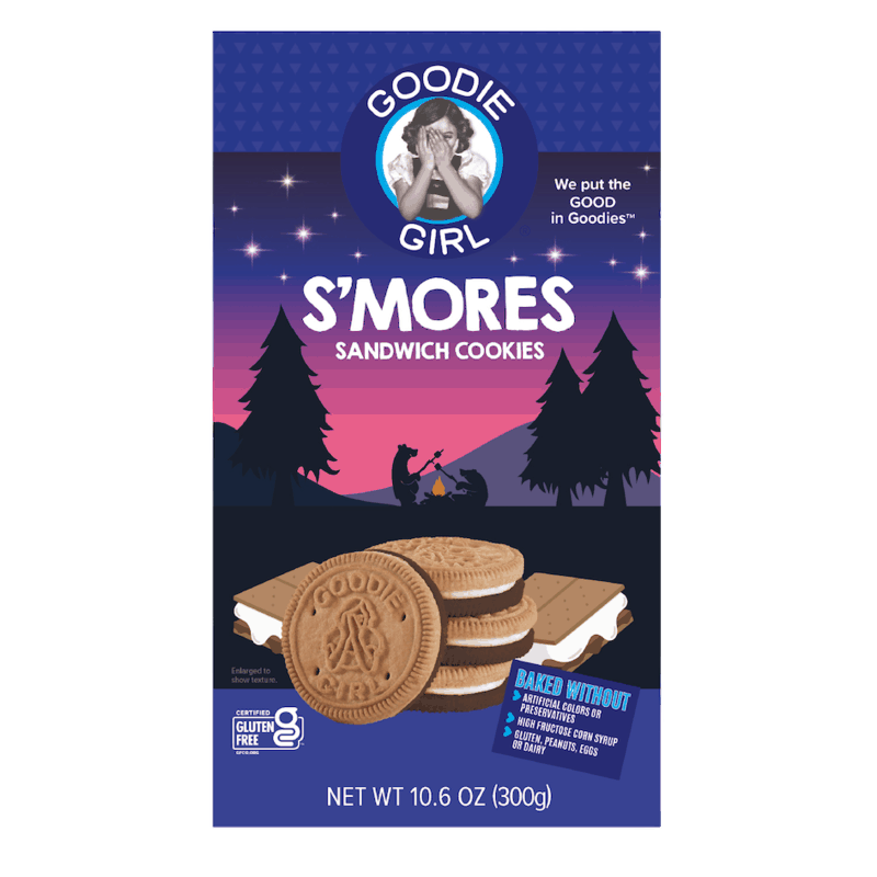 $1.00 for Goodie Girl S'mores Sandwich Cookies (expiring on Monday, 09/06/2021). Offer available at Whole Foods Market.