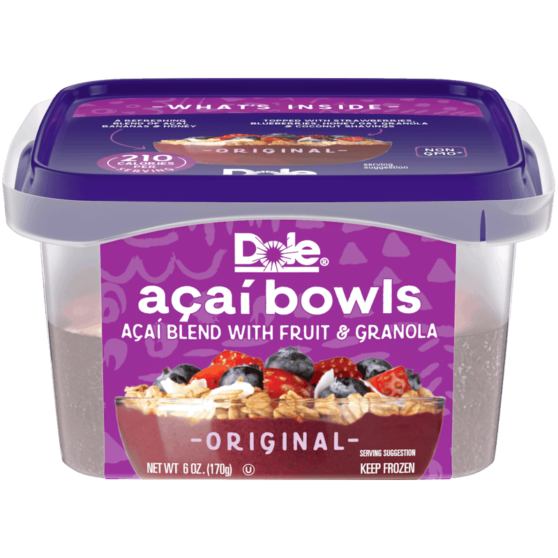 $0.75 for Dole Frozen Açaí Bowls. Offer available at Walmart, Walmart Grocery.