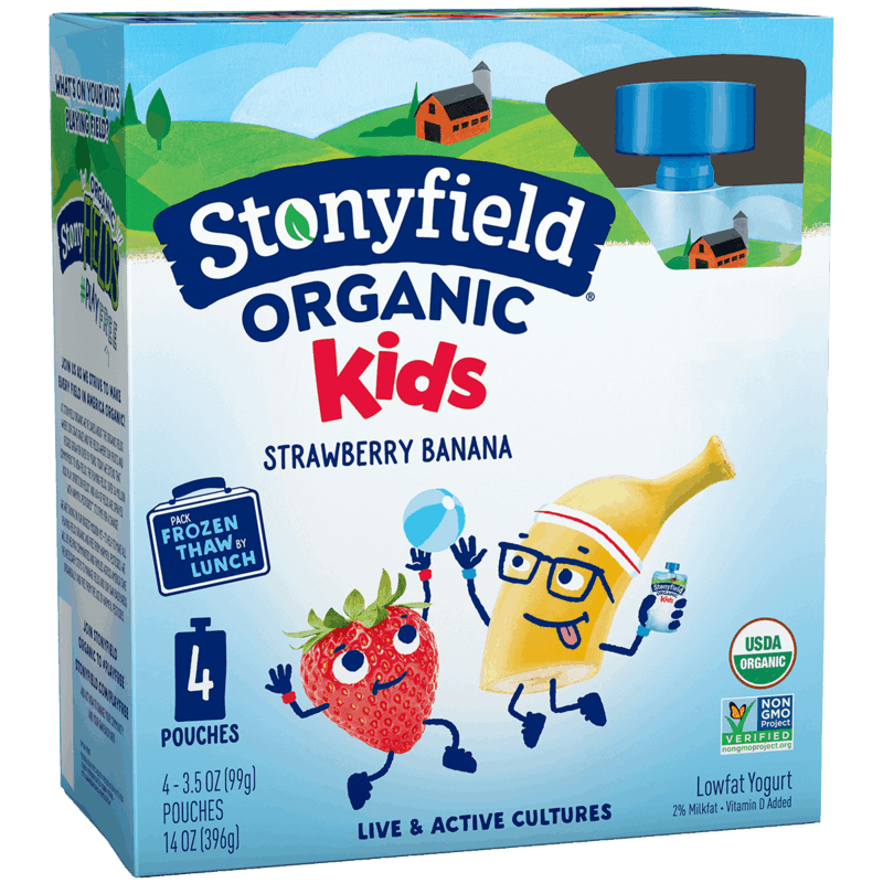 $1.00 for Stonyfield® Organic Yogurt and Fruit & Veggie Smoothie Pouches (expiring on Saturday, 02/13/2021). Offer available at multiple stores.