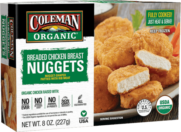 $1.50 for Coleman Organic® Breaded Chicken Breast Nuggets (expiring on Saturday, 10/06/2018). Offer available at multiple stores.