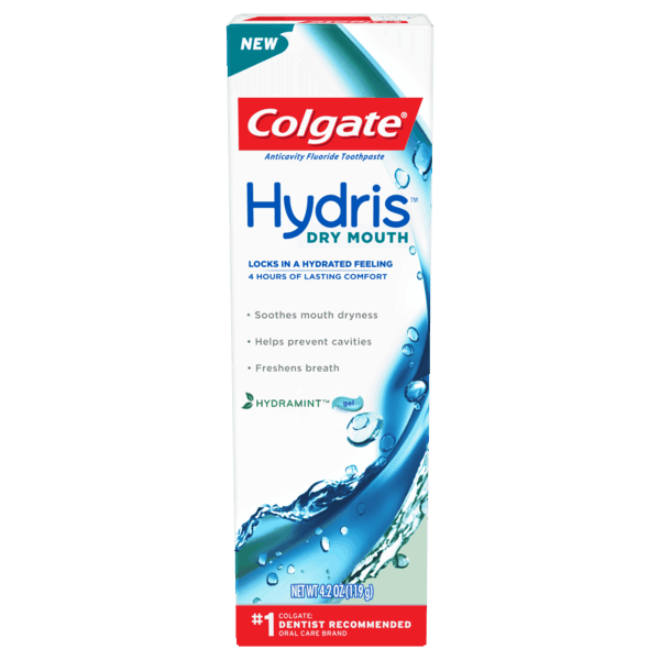 $3.00 for Colgate® Hydris™ Dry Mouth Toothpaste (expiring on Tuesday, 04/02/2019). Offer available at multiple stores.