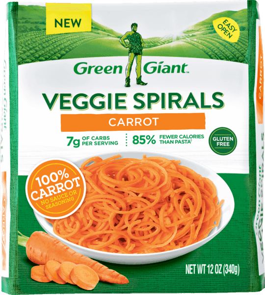 $1.00 for Green Giant Veggie Spirals™ Carrot (expiring on Wednesday, 01/02/2019). Offer available at Walmart.