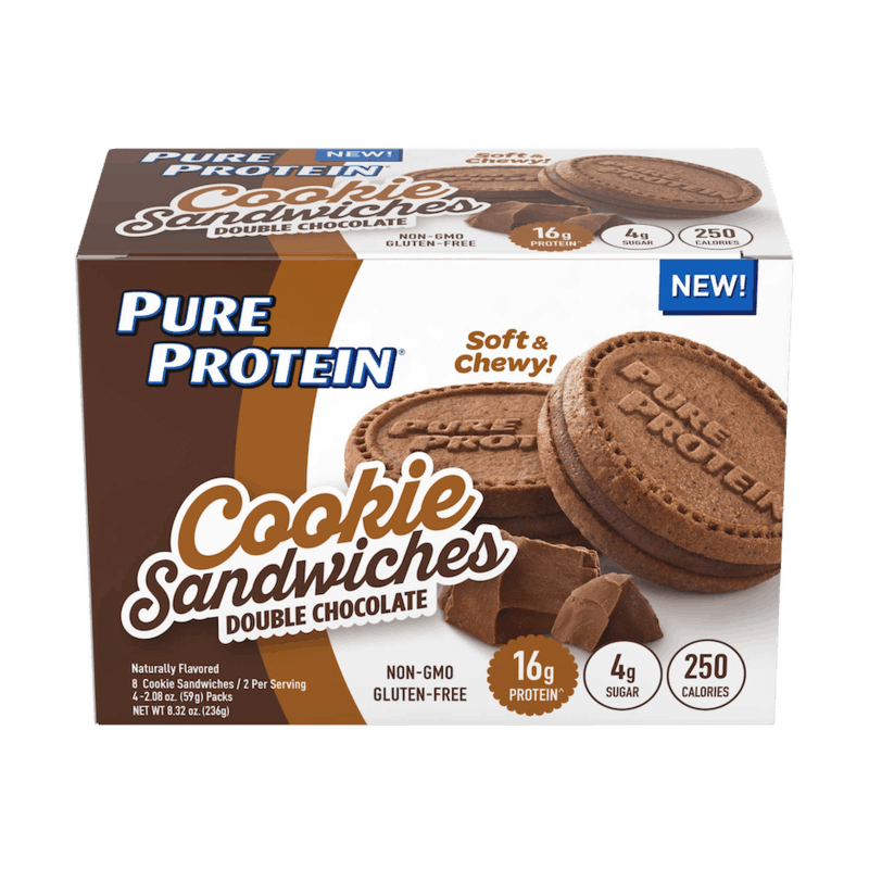 $2.00 for NEW Pure Protein Double Chocolate Cookie Sandwiches. Offer available at Walmart, Walmart Pickup & Delivery.