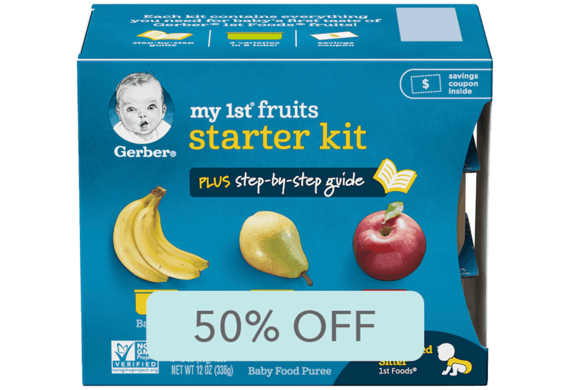 $1.98 for Gerber My 1st Fruits and Veggies (expiring on Sunday, 06/14/2020). Offer available at Walmart, Walmart Grocery.