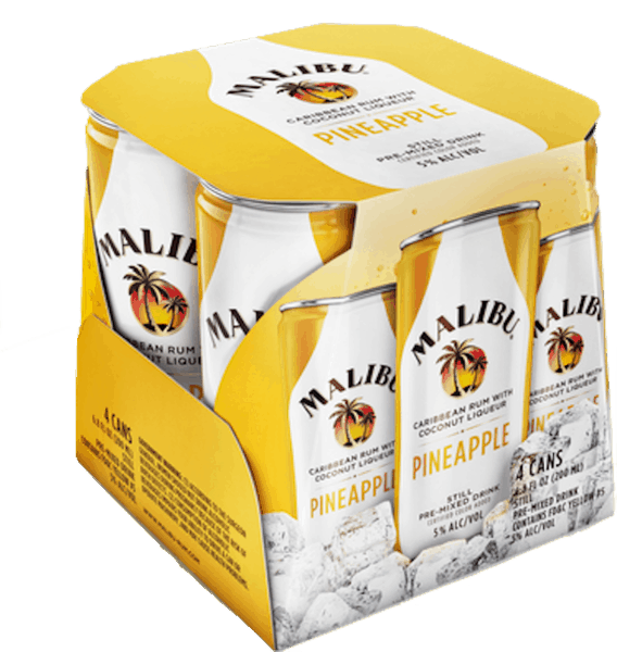 $1.00 for MALIBU® Cans (expiring on Monday, 09/03/2018). Offer available at multiple stores.