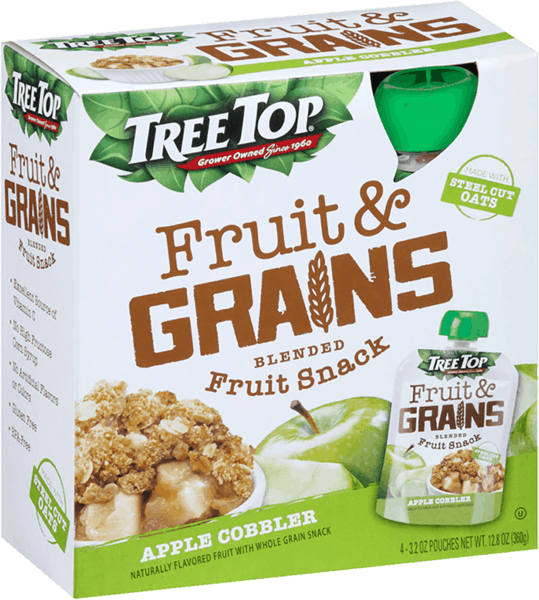 $1.25 for Tree Top® Fruit & Grains or Fruit & Veggies Pouches (expiring on Sunday, 09/02/2018). Offer available at King Soopers, Ralphs, Fred Meyer, QFC, Stater Bros.