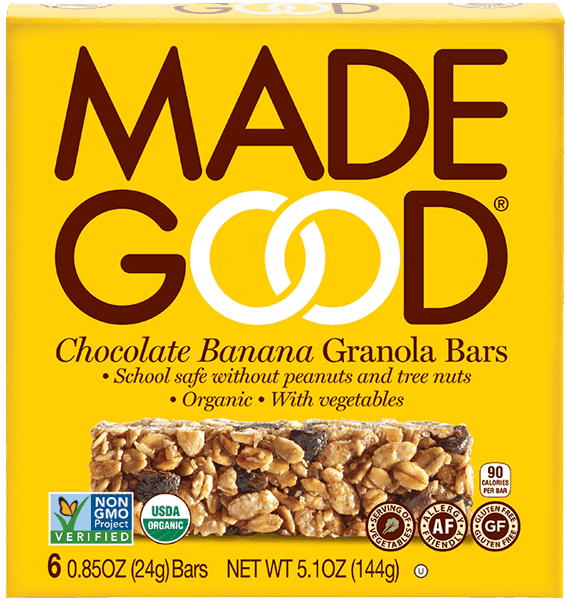 $0.75 for MadeGood® Granola Bars (expiring on Monday, 04/02/2018). Offer available at Kroger.
