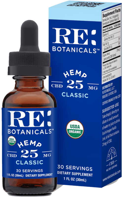 $10.00 for RE Botanicals Organic 25mg CBD Hemp Oil Tincture (expiring on Friday, 07/31/2020). Offer available at Wegmans, Sprouts Farmers Market.