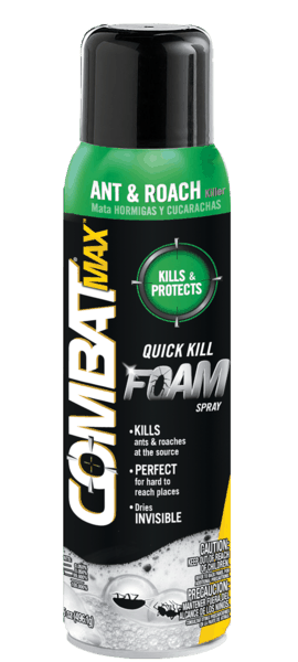 $1.25 for Combat® Max™ Quick Kill Foam Spray (expiring on Sunday, 12/31/2017). Offer available at Walmart.