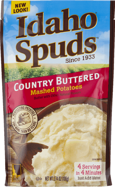$0.50 for Idaho® Spuds™ Mashed Potatoes (expiring on Wednesday, 08/01/2018). Offer available at multiple stores.
