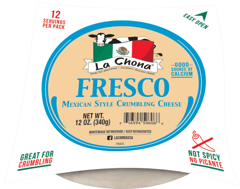 $1.25 for La Chona Fresco Cheese (expiring on Monday, 05/31/2021). Offer available at GIANT (PA,WV,MD,VA), MARTIN'S.