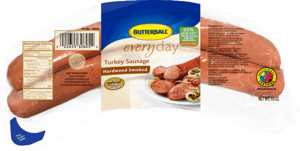 $0.50 for Butterball® Everyday Hardwood Smoked Turkey Sausage (expiring on Thursday, 08/02/2018). Offer available at multiple stores.