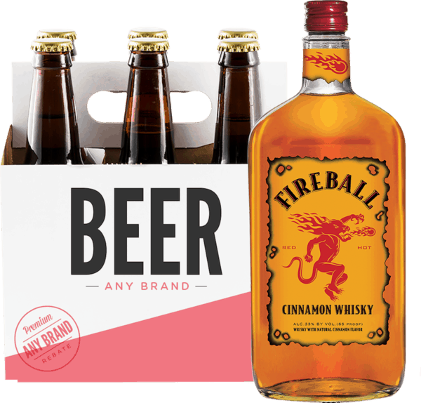 $3 00 for Fireball & Any Brand Beer (expiring on Sunday, 09