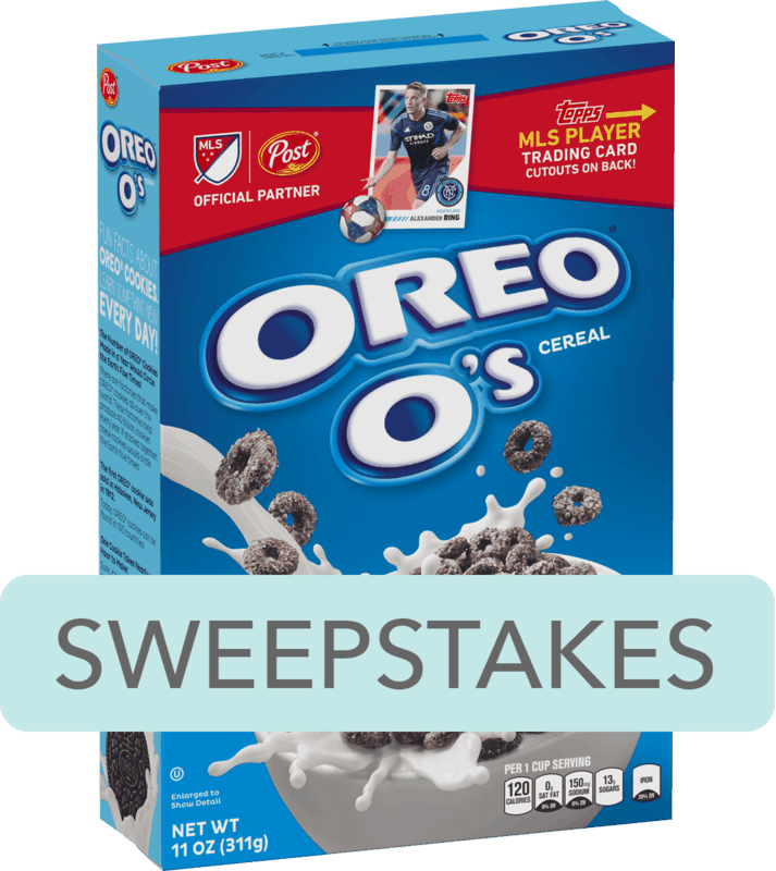 $0.50 for Post® OREO O's® Cereal (expiring on Saturday, 02/08/2020). Offer available at multiple stores.