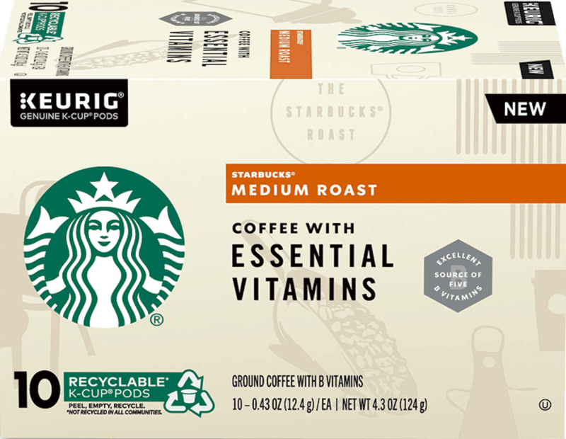 $2.00 for Starbucks K-Cup Pods with Essential Vitamins (expiring on Wednesday, 09/02/2020). Offer available at multiple stores.